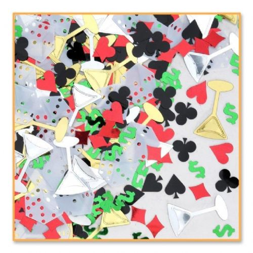 Casino Party Decoration Night Confetti 0.5oz